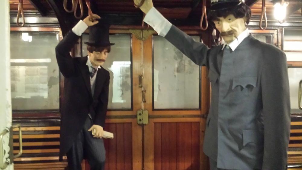 Inside an historic Hungarian train
