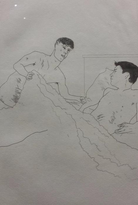 One of Hockney's Cavafy etchings