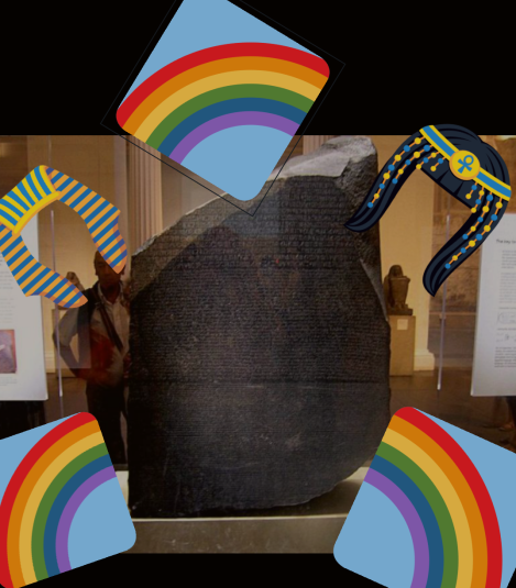 The Rosetta Stone with Rainbows